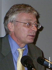 Author photo. Hans-Hermann Hoppe (1949-) photograph by bartvs, Antwerpen, May 25th, 2005.