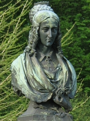 Author photo. Bust of Annette von Droste-Hülshoff, Havixbeck, Germany.  Photo by Marc Ryckaert / Wikimedia Commons.