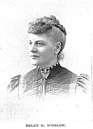 Author photo. Miss Helen M. Winslow (1851-1938), Buffalo Electrotype and Engraving Co., Buffalo, N.Y.
