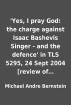 'Yes, I pray God: the charge against Isaac…