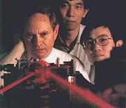 Author photo. Leonard Mandel (left)