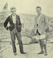 """Author photo. Woolley (left) and T. E. Lawrence at Carchemish. Image from <i><a href=""""http://www.archive.org/details/deadtownslivingm00wooluoft"""">Dead Towns and Living Men</a></i> (1920) at the <a href=""""http://www.archive.org"""">Internet Archive</a>"""