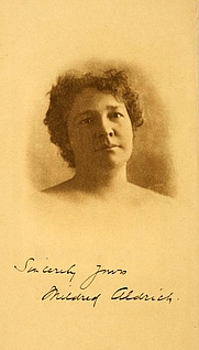 Author photo. Image from <b><i>On the edge of the war zone, from the battle of the Marne to the entrance of the Stars and stripes</i></b> (1917) by Mildred Aldrich