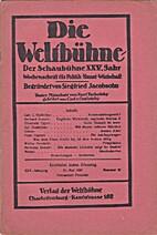 Die Weltbühne. XXV. Jahrgang. 21. Mai 1929.…