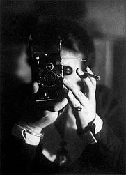 Author photo. Self-portrait with cigarette, 1925