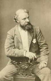 Author photo. David Christie Murray. Photo by Thomas Fatt. Frontispiece to The making of a novelist, an experiment in autobiography (1894).