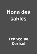 Nona des sables by Françoise Kerisel