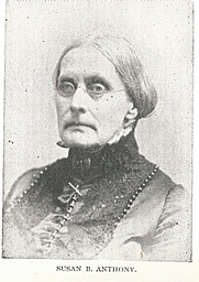 Author photo. Susan Brownell Anthony (1820-1906) Buffalo Electrotype and Engraving Co., Buffalo, N.Y.