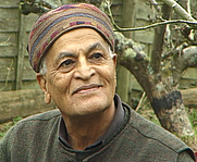 Author photo. Satish Kumar at his home in Hartland, Devon, England (Jan 2008)