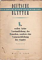 Deutsche Blätter. Heft 1. 1943 by Udo…