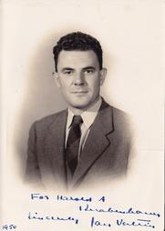 Author photo. Signed photo of Jan Valtin. 1950