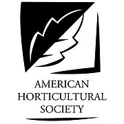 Author photo. American Horticultural Society logo