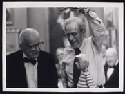 Author photo. Bil Baird (right) with one of his puppets. Courtesy of the <a href=&quot;http://digitalgallery.nypl.org/nypldigital/id?75454&quot;>NYPL Digital Gallery</a> (image use requires permission from the New York Public Library)