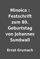 Minoica : Festschrift zum 80. Geburtstag von…