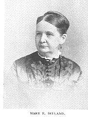 Author photo. Mary E. Ireland (b.1834), Buffalo Electrotype and Engraving Co., Buffalo, N.Y.