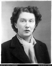 "Author photo. Portrait of author Christina Stead, 1940s? [picture] <br><a href=""http://www.nla.gov.au"">National Library of Australia</a>, nla.pic-an24717059"