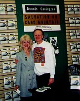 Author photo. Justine Veatch with Dennis Covington
