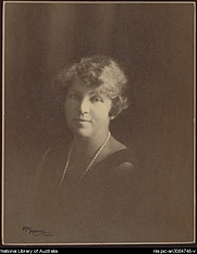 Author photo. May Moore, 1881-1931. Portrait of Ethel Turner 1927 [picture]. <br><a href=&quot;http://www.nla.gov.au&quot;>National Library of Australia</a>, nla.pic-an3084746