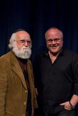 Author photo. Derek Landy (on right).  Ian Oliver,  July 1, 2007