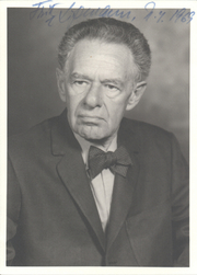Author photo. Fritz Albert Lipmann (Smithsonian)
