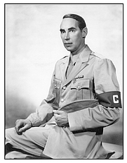 Author photo. The American author Christopher Grant La Farge in uniform as a war correspondent during World War II. By Unknown - scan of original, which is in public domain, Public Domain, <a href=&quot;https://commons.wikimedia.org/w/index.php?curid=31100705&quot; rel=&quot;nofollow&quot; target=&quot;_top&quot;>https://commons.wikimedia.org/w/index.php?curid=31100705</a>