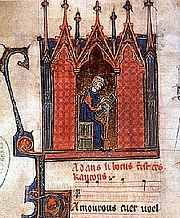 """Author photo. Adam de la Halle. Miniature in musical codex. By Unknown - <a href=""""http://picsdigger.com/image/cfd4783c/"""" rel=""""nofollow"""" target=""""_top"""">http://picsdigger.com/image/cfd4783c/</a>, CC BY 3.0, <a href=""""https://commons.wikimedia.org/w/index.php?curid=11282545"""" rel=""""nofollow"""" target=""""_top"""">https://commons.wikimedia.org/w/index.php?curid=11282545</a>"""