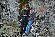 "Author photo. Robert Bauval (right) and Robert Schoch at the prehistoric cult centre of Belintash (Bulgaria) in 2014. By Filipov Ivo - Own work, CC BY-SA 4.0, <a href=""//commons.wikimedia.org/w/index.php?curid=34248462"" rel=""nofollow"" target=""_top"">https://commons.wikimedia.org/w/index.php?curid=34248462</a>"
