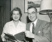 Author photo. Kenneth E. Kidd with his wife Martha Ann Kidd [credit: Trent University Archives; photo by Jack Marshall]