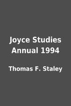 Joyce Studies Annual 1994 by Thomas F.…
