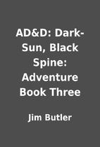 AD&D: Dark-Sun, Black Spine: Adventure Book…