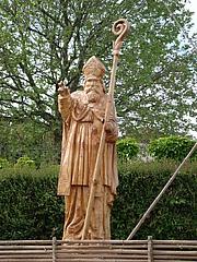 Author photo. Statue of St. Avitus in Saint-Avit dans la Drôme, France. Photo by user Gachepi / Wikipedia