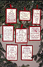 Holidy words redwork ornaments by Robin…