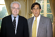 Author photo. Jospin (left) with Cuauhtémoc Cárdenas (1997). <a href=&quot;http://www.archives.premier-ministre.gouv.fr/jospin_version3/fr/ie4/contenu/14742.htm&quot;>The Photographic Service of the Prime Minister of France</a>.