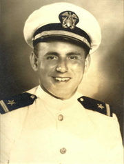 Author photo. Leroy Hayman in World War II, commissioning photograph.