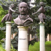 Author photo. Bust of Mihály Vörösmarty, Bonyhád, Hungary.  Photo by user Csanády / Wikimedia Commons.