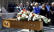 Author photo. Jean Lacouture décédé le 16 juillet 2015 lors de la cérémonie funéraire du 20 juillet à Roussillon, Vaucluse