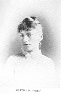 Author photo. Martha R. Field [aka Catharine Cole] (1855-1898) Buffalo Electrotype and Engraving Co., Buffalo, N.Y.