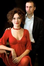 Author photo. Rita Monaldi & Francesco P. Sorti