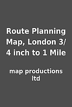 Route Planning Map, London 3/4 inch to 1…