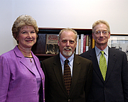 Author photo. Gerald R. Ford Library and Museum Director Elaine Didier, left, at the Ford Library and Museum on April 20-21, 2006 with Barry Werth[1] Credit: Courtesy Gerald R. Ford Museum. Rights Information: Public Domain (No usage fees, no permission required).
