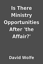 Is There Ministry Opportunities After 'the…