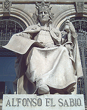 Author photo. Statue of King Alfonso X of Castille by José Alcoverro y Amorós (1892), National Library, Madrid, Spain. Photo credit: Luis García.
