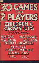 30 GAMES FOR TWO PLAYERS by Clifford…