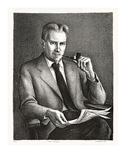 "Author photo. Lithograph by Benton Spruance, at <a href=""http://keithsheridan.com/spruance2.html"" rel=""nofollow"" target=""_top"">KeithSheridan.com</a>"