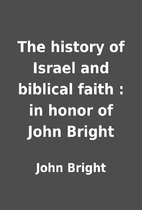 The history of Israel and biblical faith :…