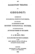 An elementary treatise on geology by Jean…