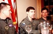 Author photo. Scott O'Grady (Center) ~ Photo by USAF (Wikimedia Commons)
