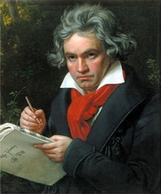 Author photo. Ludwig van Beethoven while composing <i>Missa Solemnis</i>, c. 1820. Portrait by Joseph Karl Stieler (1781–1858).