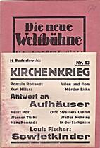Die neue Weltbühne. III. Jahrgang. 25.…