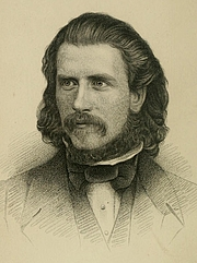 Author photo. Image from <b><i>Poems</i></b> (1865) by Gerald Massey